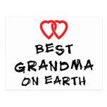 La mejor abuela en la tierra postal