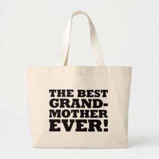 La mejor abuela nunca bolsa tela grande