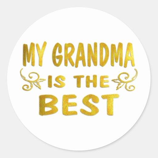 La mejor abuela pegatinas redondas