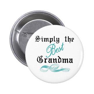 La mejor abuela pin redondo de 2 pulgadas