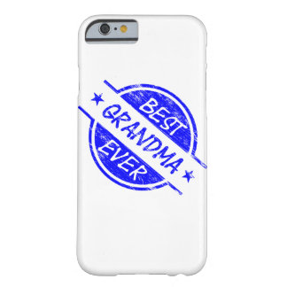La mejor abuela siempre azul funda de iPhone 6 barely there