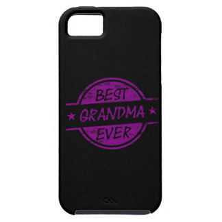 La mejor abuela siempre púrpura iPhone 5 Case-Mate protectores