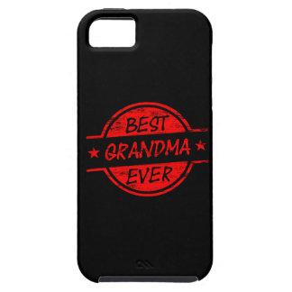 La mejor abuela siempre roja iPhone 5 Case-Mate coberturas