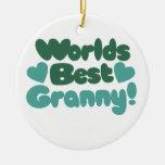 La mejor abuelita de los mundos adorno de navidad