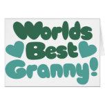 La mejor abuelita de los mundos tarjeton