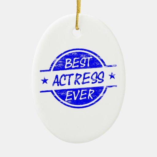 La mejor actriz nunca Blue.png Adorno De Navidad