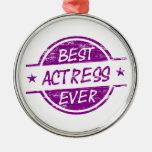 La mejor actriz nunca Purple.png Ornamento De Navidad