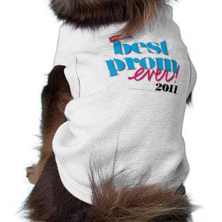 La mejor aguamarina del baile de fin de curso nunc camisa de perro