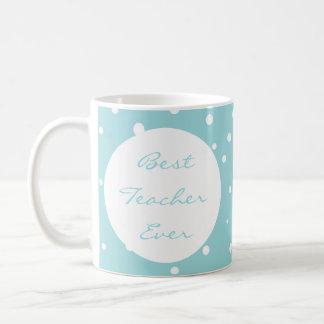 La mejor aguamarina del profesor y taza blanca de