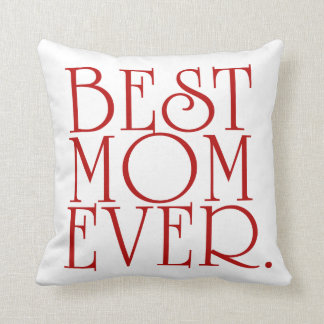 La mejor almohada de tiro del día de madre de la
