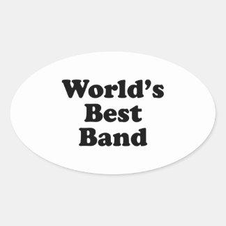 La mejor banda del mundo pegatina ovalada