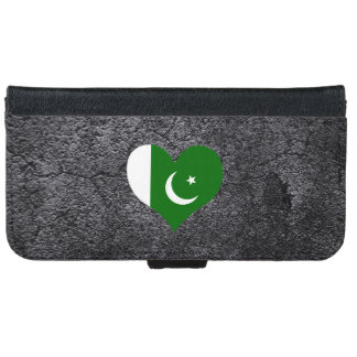La mejor bandera paquistaní del corazón funda cartera para iPhone 6