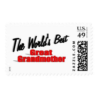 La mejor bisabuela del mundo sello postal