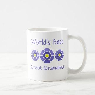 La mejor bisabuela del mundo taza de café