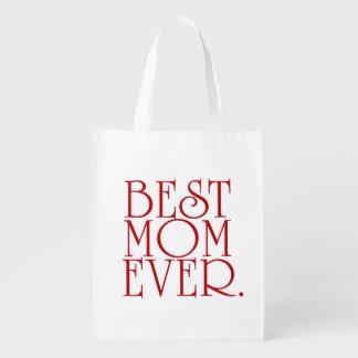 La mejor bolsa de asas del día de madre de la mamá bolsas reutilizables