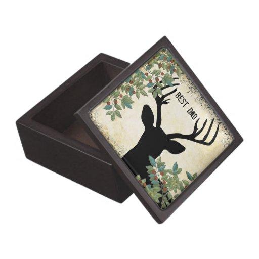 La mejor caja de madera de los alces de los alces cajas de regalo de calidad
