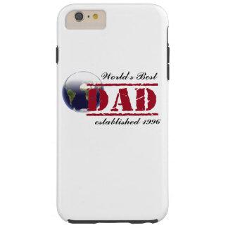 La mejor caja del teléfono del papá del mundo de funda de iPhone 6 plus tough