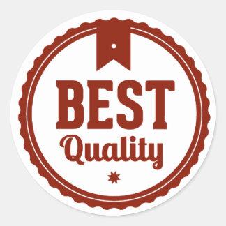 La mejor calidad pegatina redonda