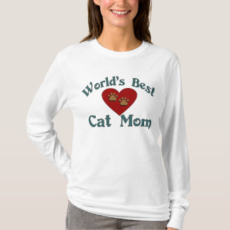 La mejor camiseta de la mamá del gato del mundo