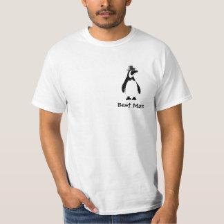 La mejor camiseta de Penuin del hombre Camisas