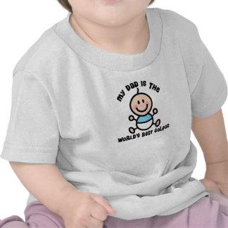 La mejor camiseta del bebé del papá del golfista