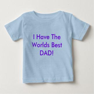 La mejor camiseta del papá de los mundos para los polera