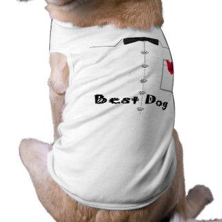 La mejor camiseta del perro playera sin mangas para perro