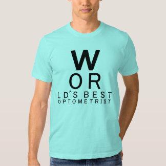 La mejor camiseta del regalo del optometrista del camisas