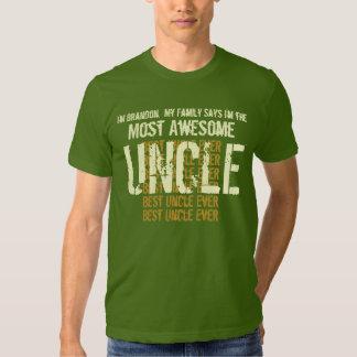 La mejor camiseta del TÍO nunca regalo para él Playera