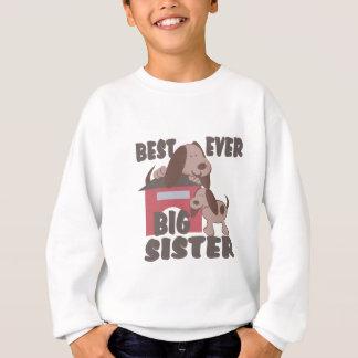 La mejor caseta de perro de la hermana grande sudadera