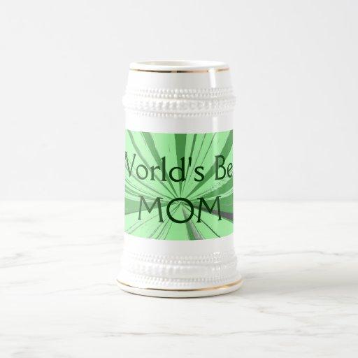 La mejor cerveza Stein de la mamá de los mundos Tazas De Café