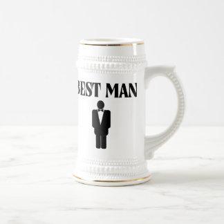 La mejor cerveza Stein del boda del hombre Taza De Café