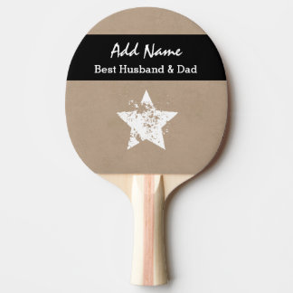 La mejor cinta moderna A03 del negro del moreno Pala De Ping Pong