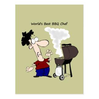 La mejor cita de la diversión del cocinero del Bbq Tarjetas Postales