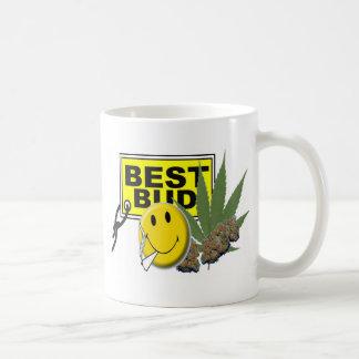 la mejor colección del brote de la cara sonriente taza de café