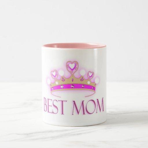La mejor corona de la mamá taza dos tonos