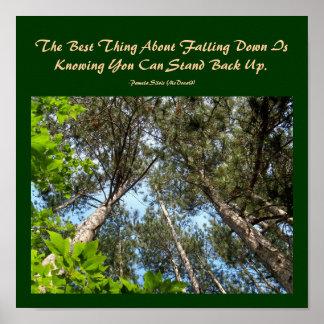 La mejor cosa sobre caer abajo… poster de la cita