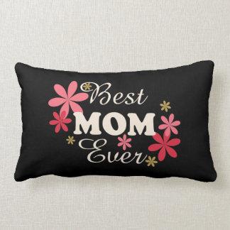 La mejor crema/rosa de la mamá nunca en la cojín