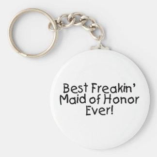 La mejor criada de Freakin del honor que se casa n Llavero Redondo Tipo Pin