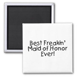 La mejor criada del honor imán de frigorífico
