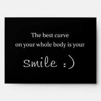 la mejor curva en su cuerpo entero es su sonrisa