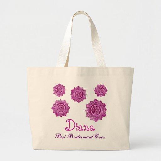 La mejor dama de honor de los elementos florales r bolsa