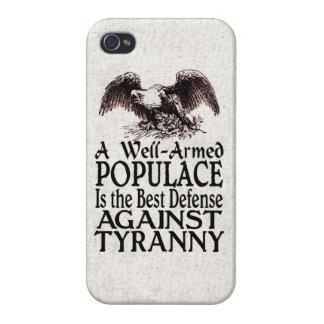 La mejor defensa del populacho armado bien contra  iPhone 4/4S carcasa