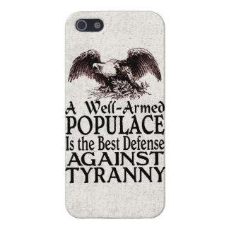 La mejor defensa del populacho armado bien contra iPhone 5 carcasa