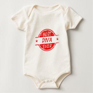 La mejor diva siempre roja body para bebé