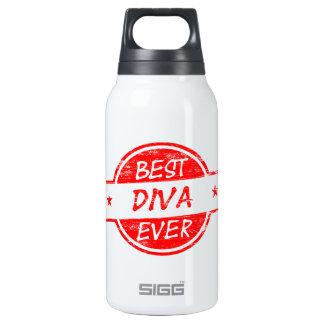 La mejor diva siempre roja botella isotérmica de agua
