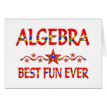 La mejor diversión de la álgebra felicitacion