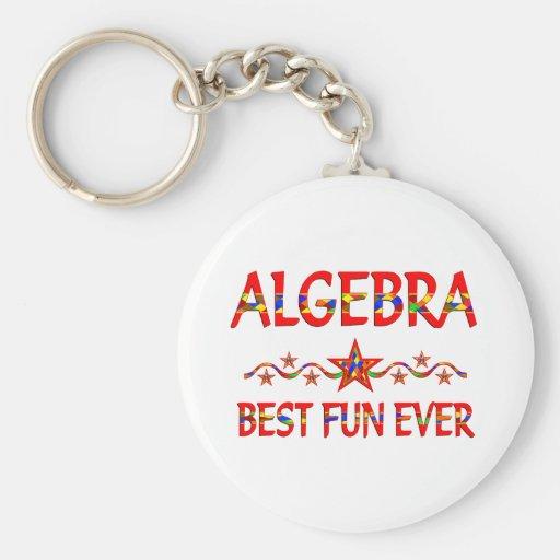 La mejor diversión de la álgebra llavero personalizado