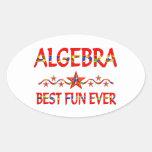La mejor diversión de la álgebra calcomania oval personalizadas