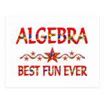 La mejor diversión de la álgebra tarjeta postal